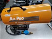 ALL PRO # SPC-85 PORTABLE FORCED AIR HEATER PROPANE & ELECTRIC BLOWN